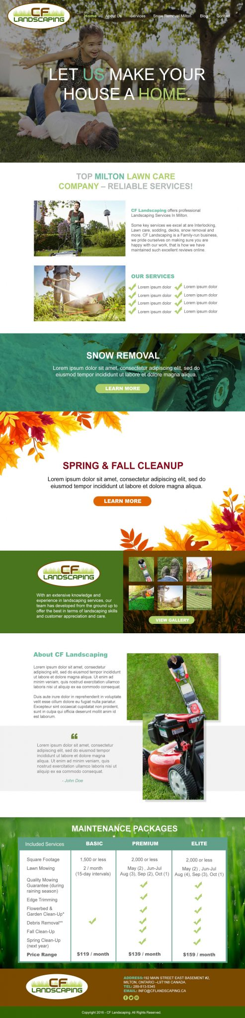 CF Landscaping Website